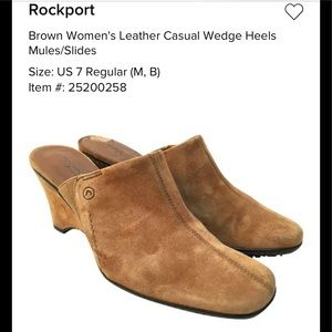 Rockport Suede Mules in excellent condition.